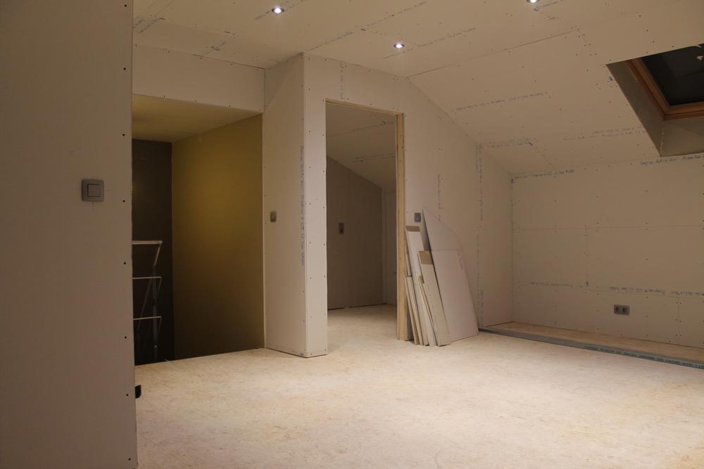 Kastenwand Keuken Inbouwen : Afbeelding 10 van omboouwen zolder project van Schrijnwerker Stijn